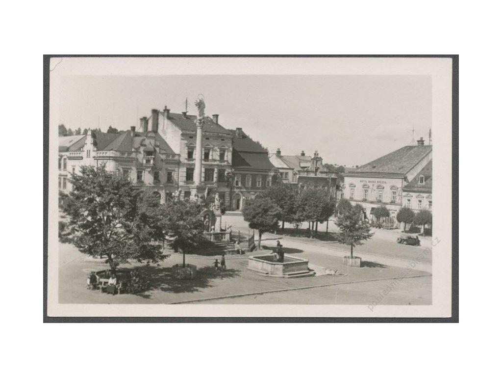 70 - Ústeckoorlicko, Žamberk, náměstí, cca 1950