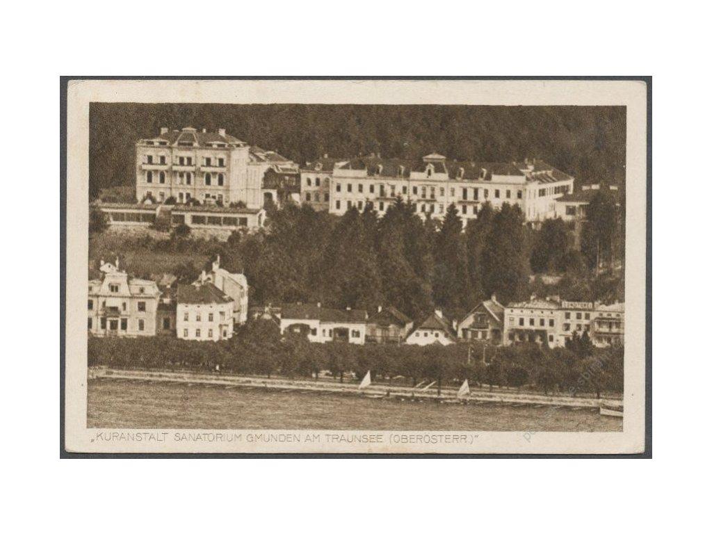 Austria, Salzkammergut, Gmunden, Kuranstalt sanatorium. cca 1914
