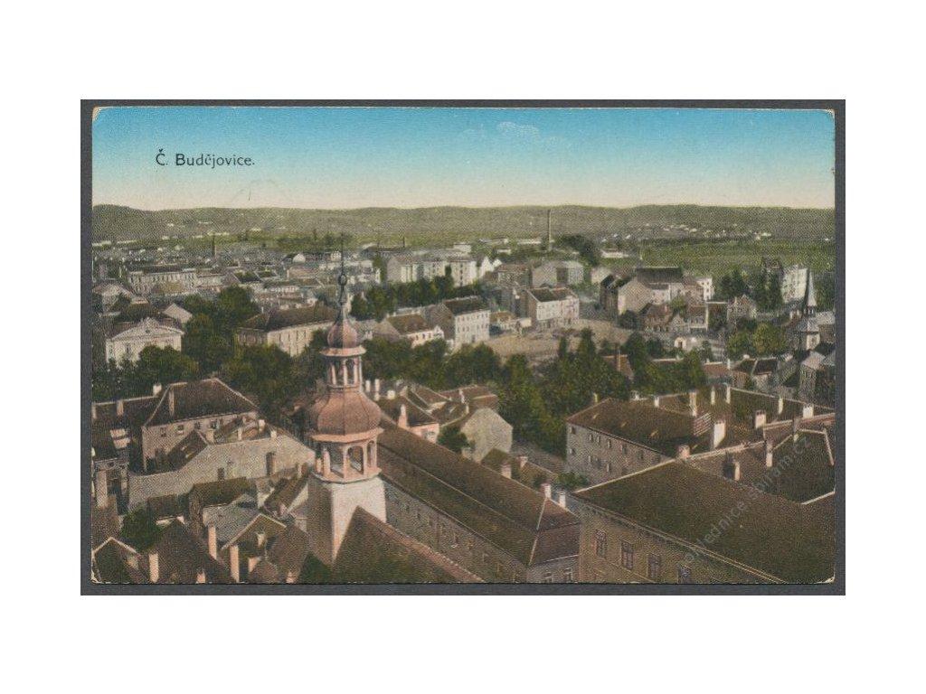 12 - České Budějovice, pohled na město, cca 1925