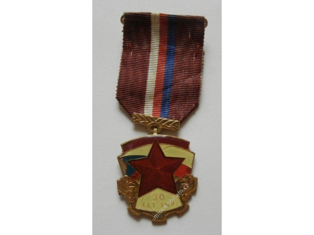 ČSSR, Vyznamenání - 30.let SNB, policie, stuha, 1975