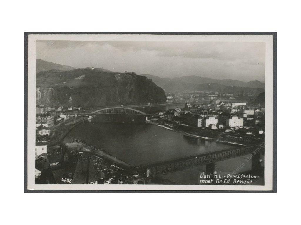 69 - Ústí nad Labem, most Dr. E. Beneše, cca 1936