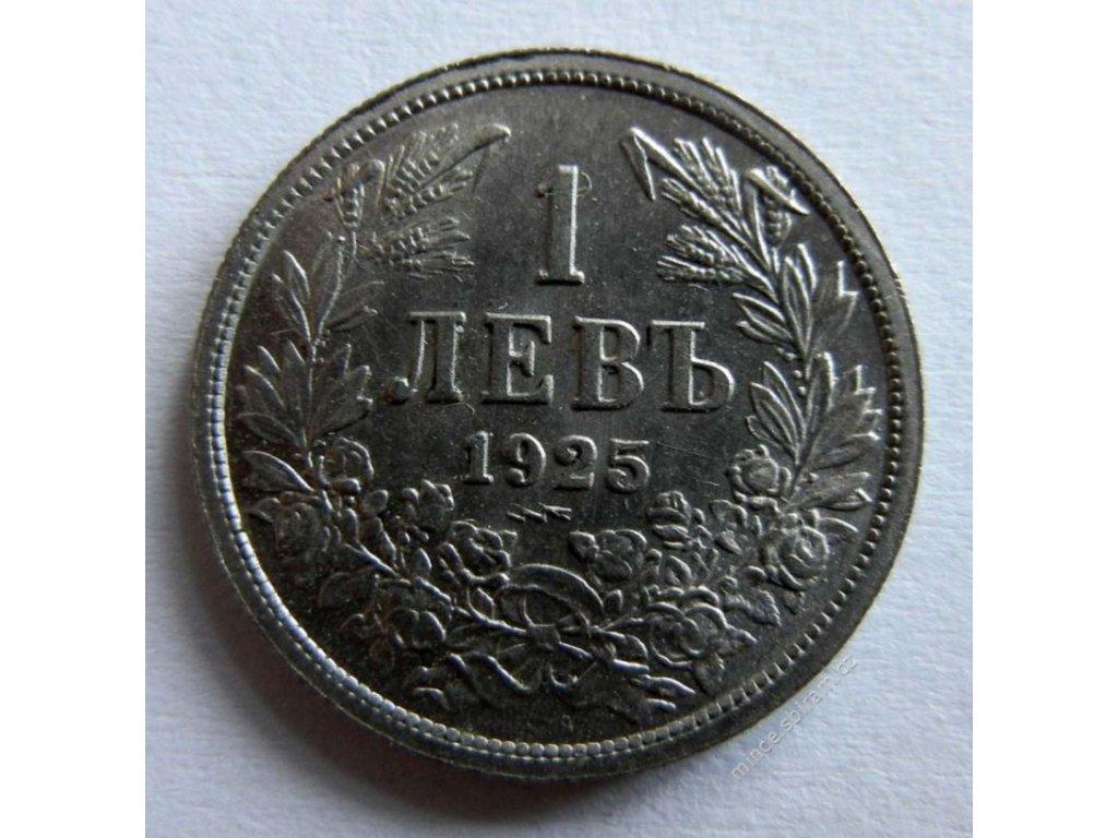 Bulharsko, mince 1 Lev, 1925