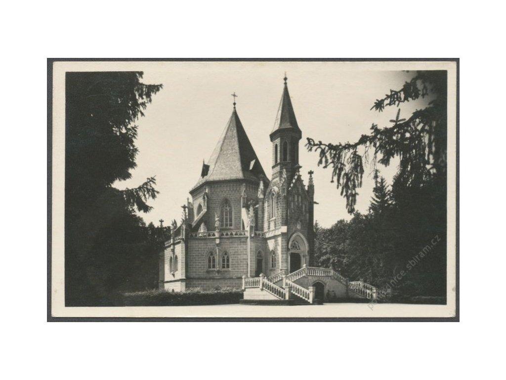 24 - Jindřichohradecko, Třeboň (Wittingau), Schwarzenberská hrobka, grafo Čuda, cca 1940