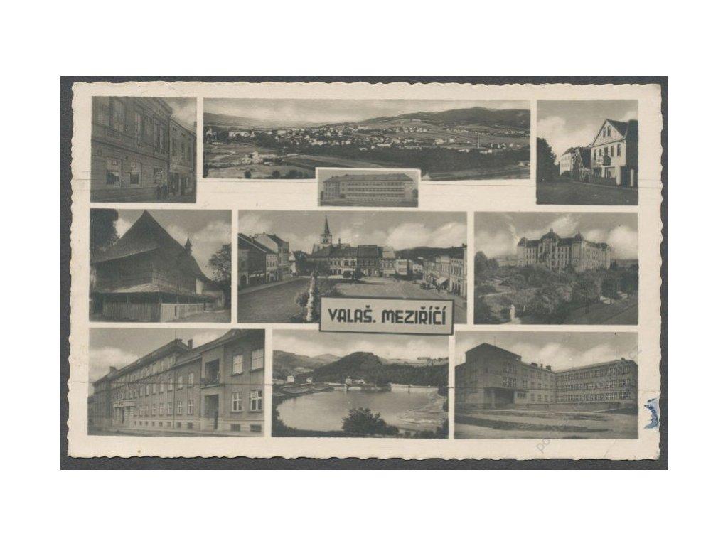 71 - Vsetínsko, Valašské Meziříčí, části města, cca 1945