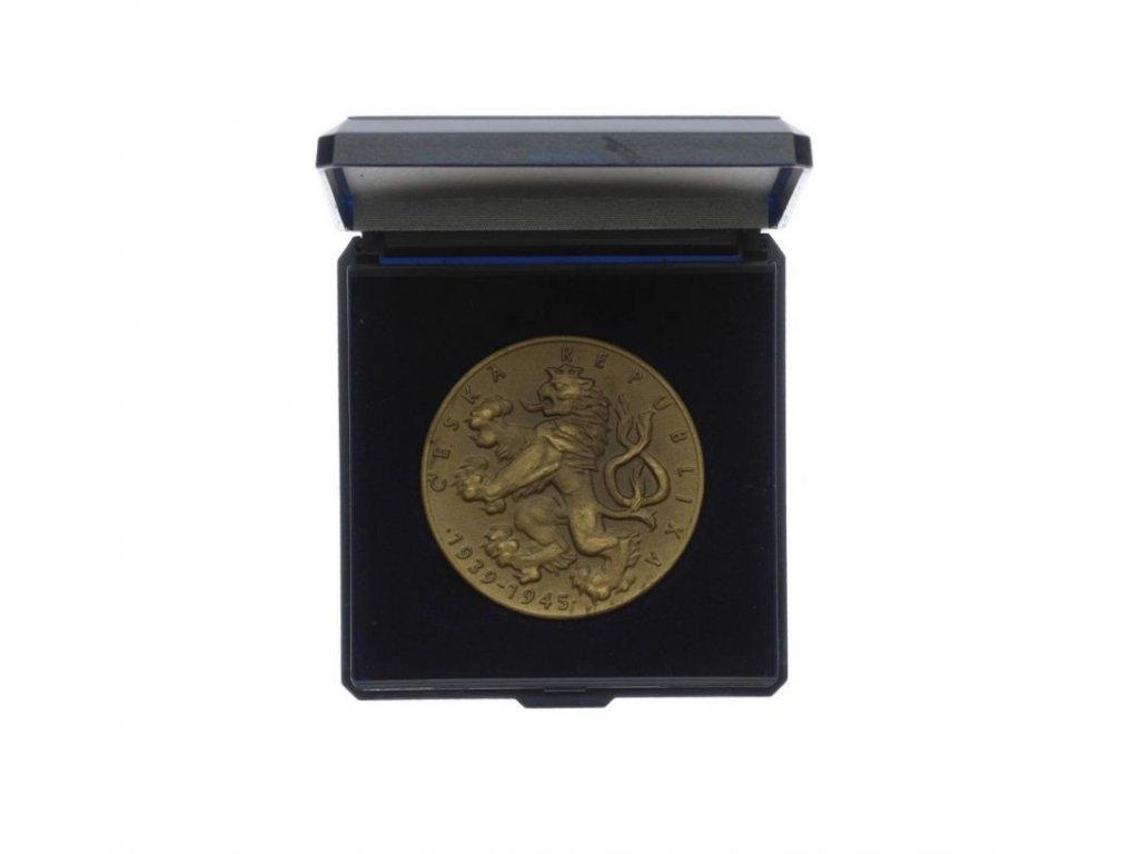 ČR, AE medaile 55.výročí konce II. Světové války, etue, 40mm, stav 1