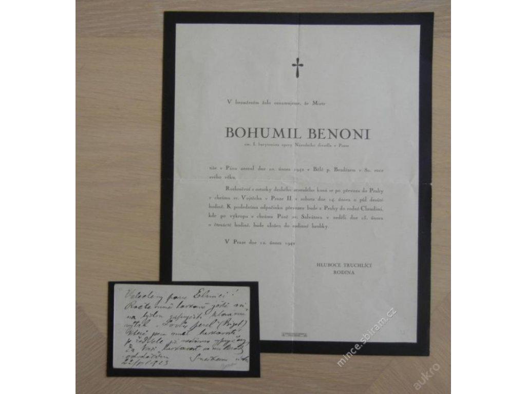 Bohumil Benoni (1862 1942), zpěvák-barytonista ()