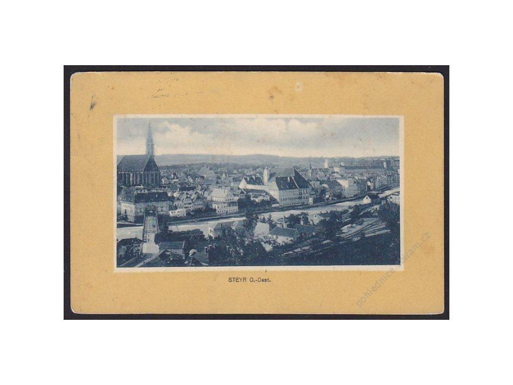 Austria, Upper Austria, Steyr, panorama with river, cca 1914