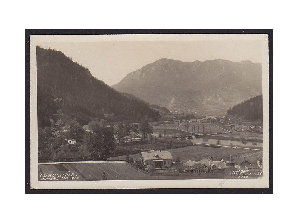 Slovensko, Ľubochňa, pohled na Šíp, cca 1928