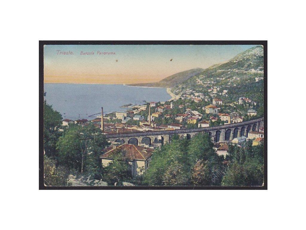 Italy, Friuli-Venezia Giulia, Province of Pordenone, Trieste, Panorama of Barcola, cca 1908