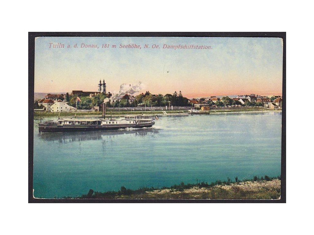 Austria, Lower Austria, Tulln an der Donau, steamership station, cca 1916