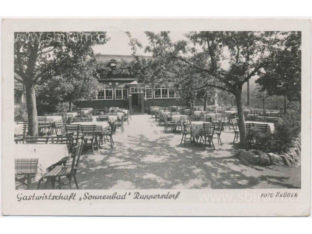 09 - Chomutovsko, Prunéřov, Restaurace, foto Kruger, cca 1937