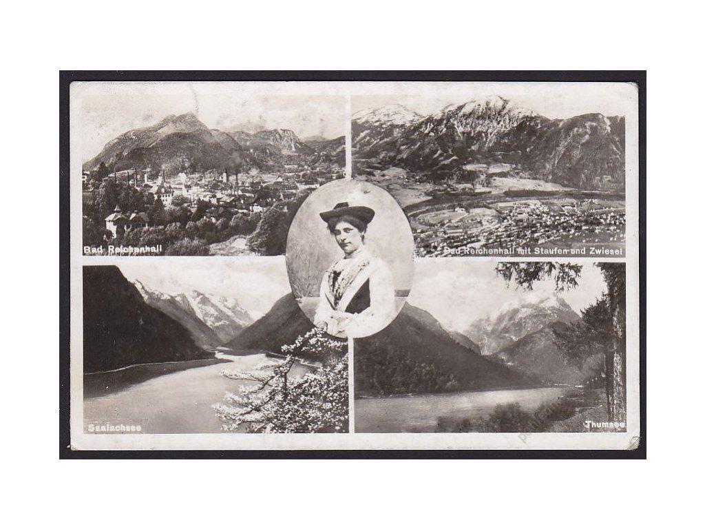 Germany, Upper Bavaria, Berchtesgadener Land, Bad Reichenhall and countryside, cca 1950