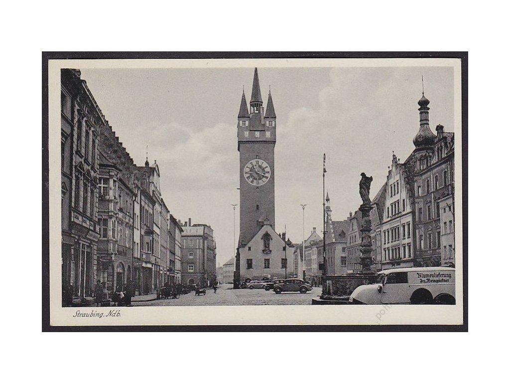 Germany, Lower Bavaria, Straubing, Gothic City Tower (Stadtturm), cca 1940