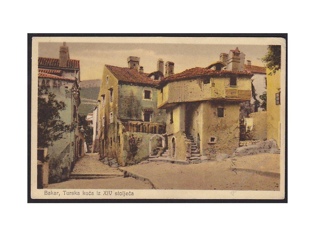 Croatia, Primorje-Gorski Kotar County, Bakar, turkish house from the 16th century, cca 1932