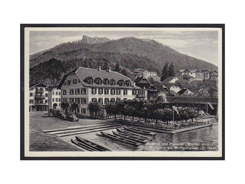 """Austria, Upper Austria, Salzkammergut, St. Wolfgang, Pension """"Weißer Hirsch"""", cca 1935"""
