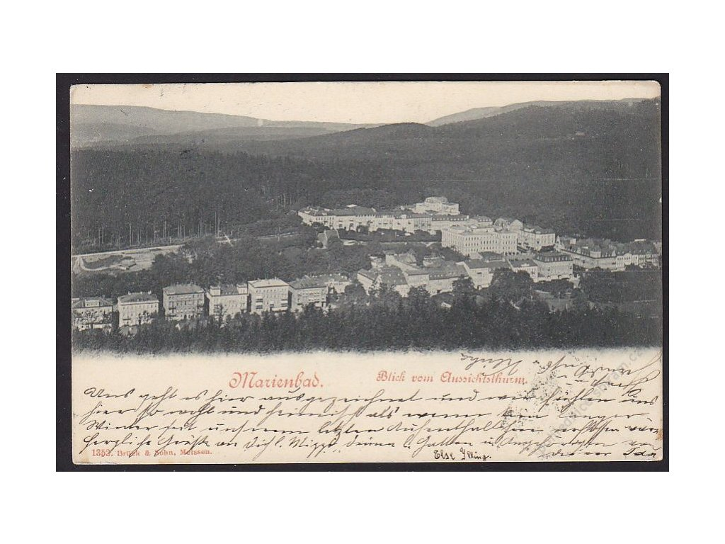 08 - Chebsko, Mariánské lázně (Marienbad), polhed na město, cca 1903