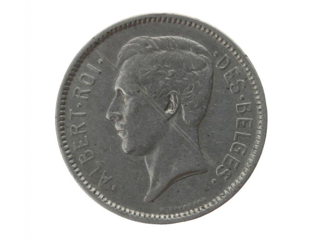 Belgie, mince  5Fr., 1931, stav 2/2