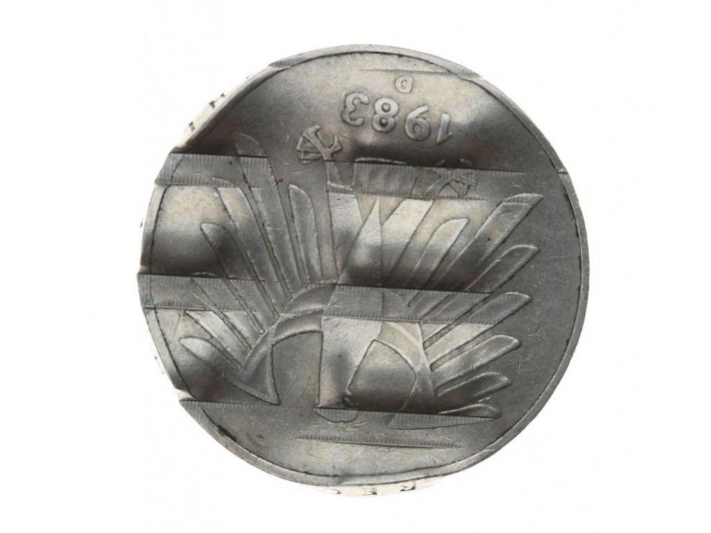 BDR, mince 5 Mark, 1983 D, zmincováno