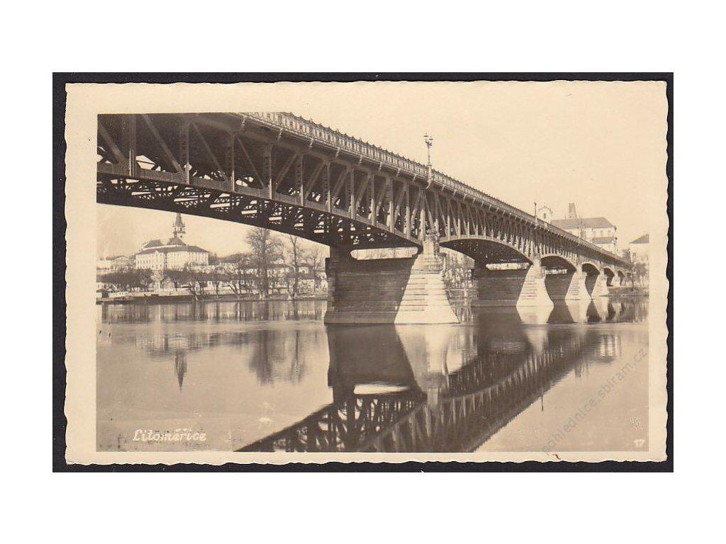 33 - Litoměřice, most, cca 1935