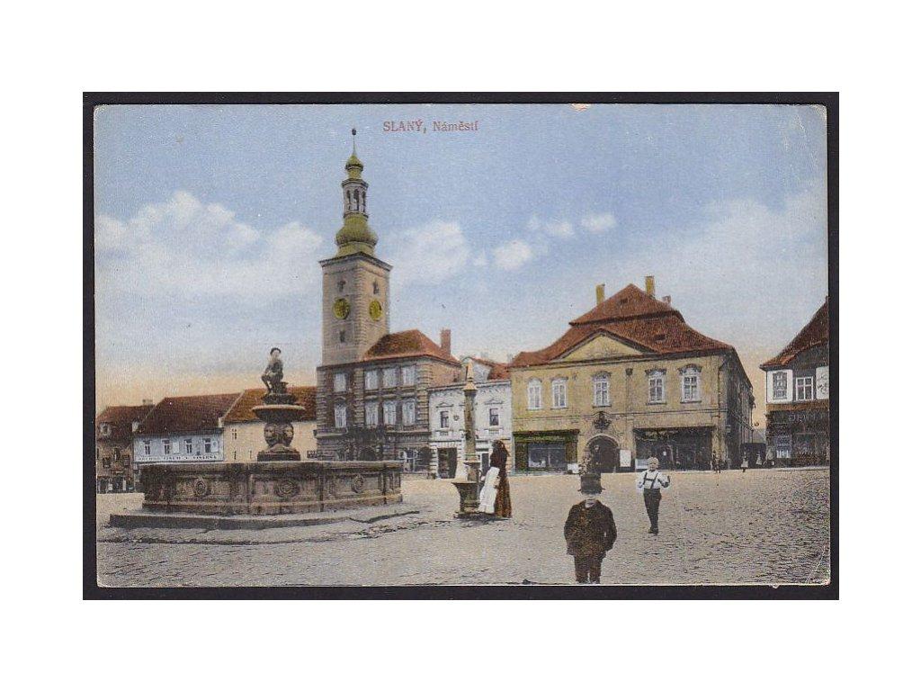 27 - kladensko, Slaný, náměstí, cca 1920