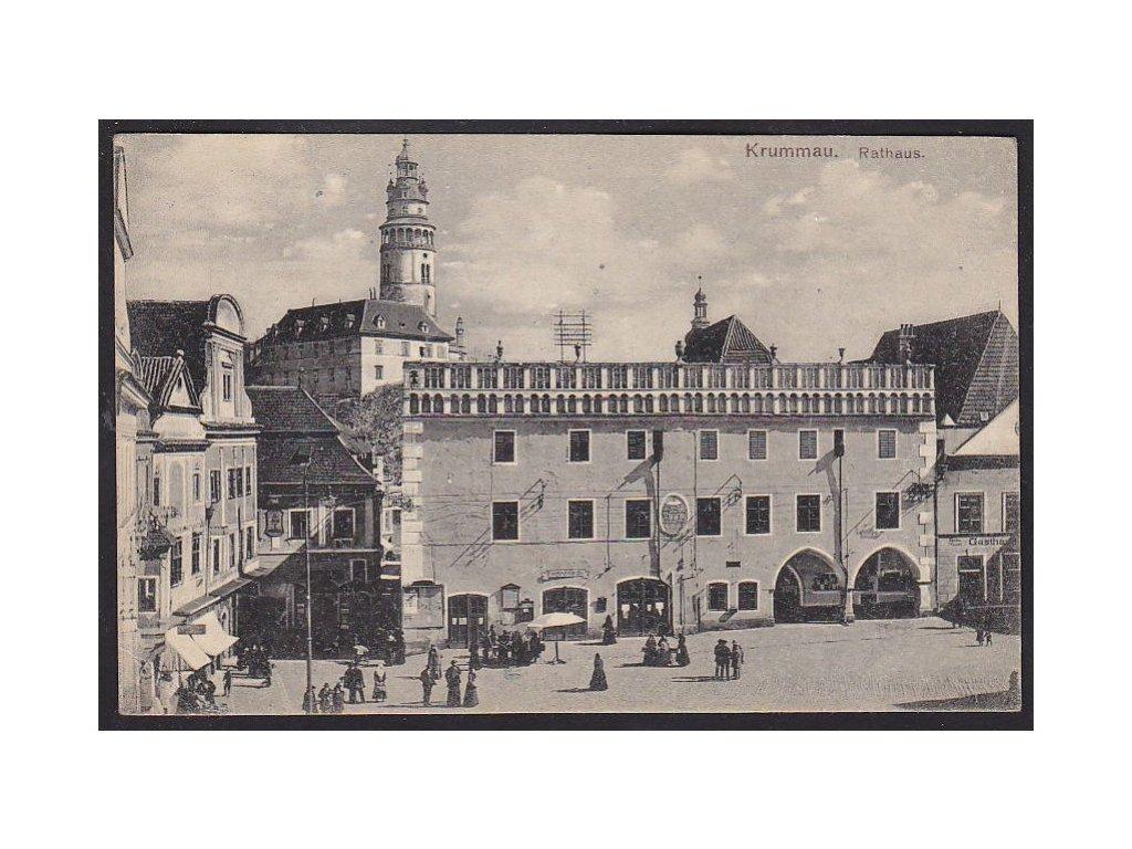 13 - Český Krumlov, radnice, foto Seidel č.1336, cca 1918