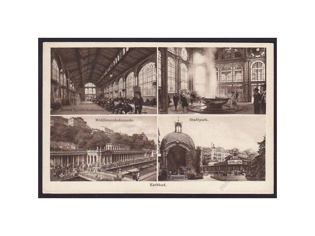 25 - Karlovy Vary, (Karlsbad), části města, cca 1933