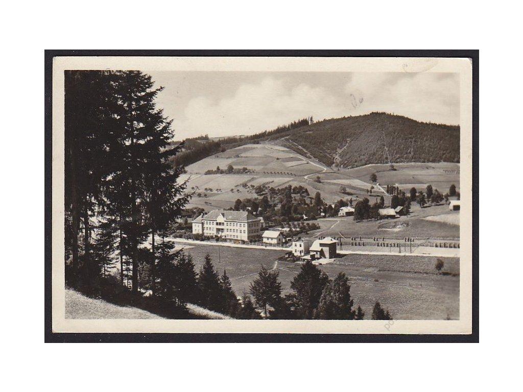 71 - Vsetínsko, Velké Karlovice, škola, cca 1952