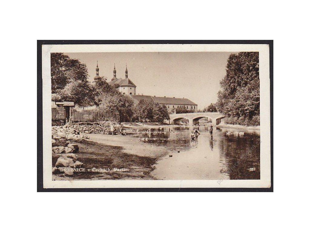 54 - Příbramsko, Březnice v Čechách, partie na řece, cca 1932