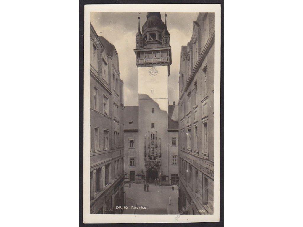 04 - Brno-město, radnice, foto Fon, cca 1930