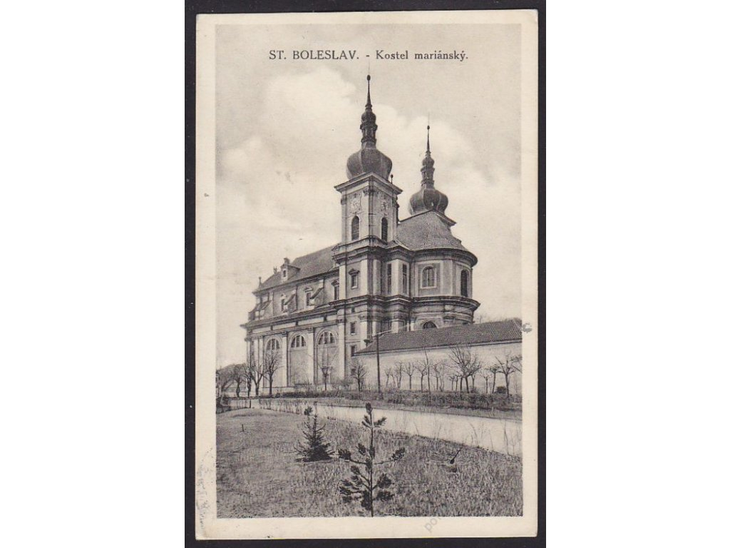 50 - Praha-východ, Stará Boleslav, mariánský kostel, cca 1935