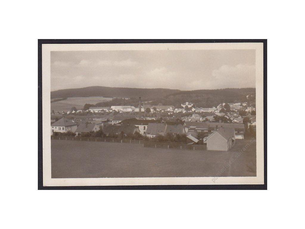 23 - Jihlavsko, Třešť, celkový pohled, cca 1950