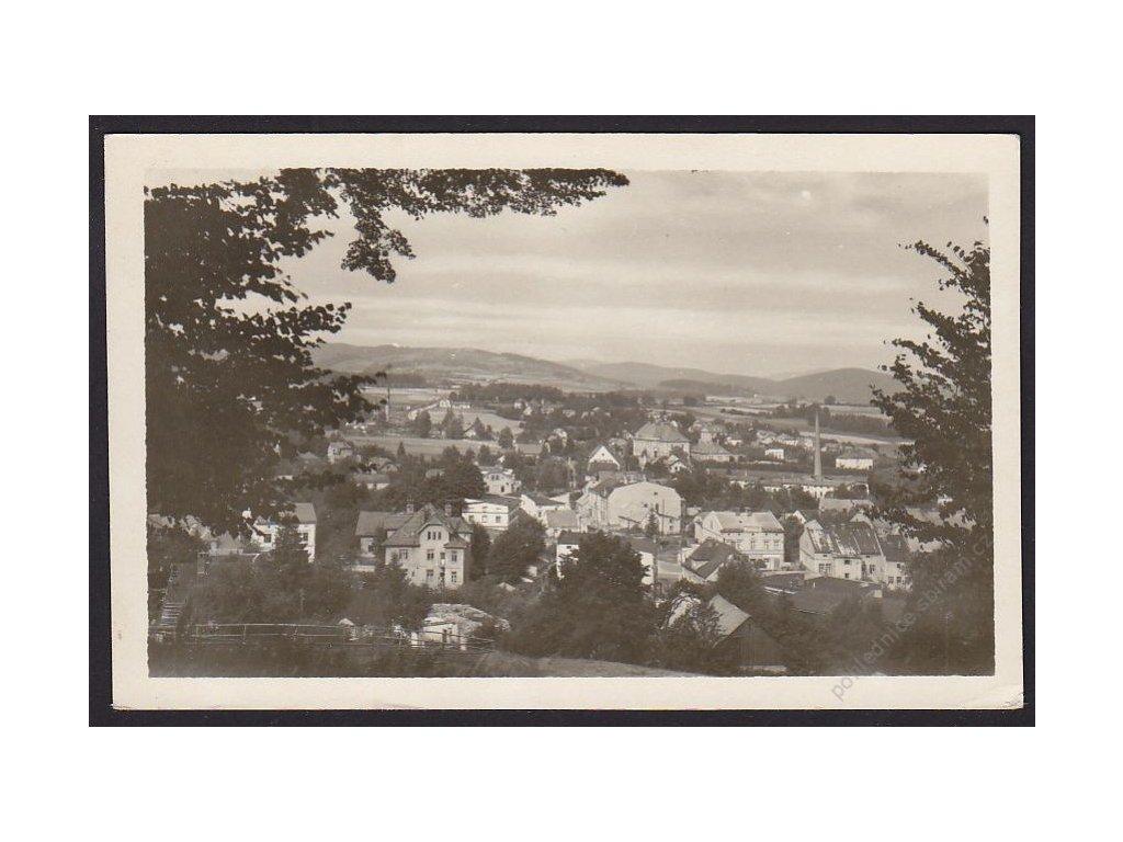 21 - jesenicko, Zlaté hory, celkový pohled, cca 1951
