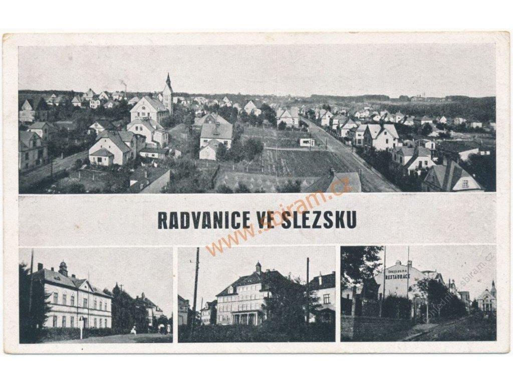 43 - Ostrava, Radvanice, 4 - záběr dominant města, cca 1949