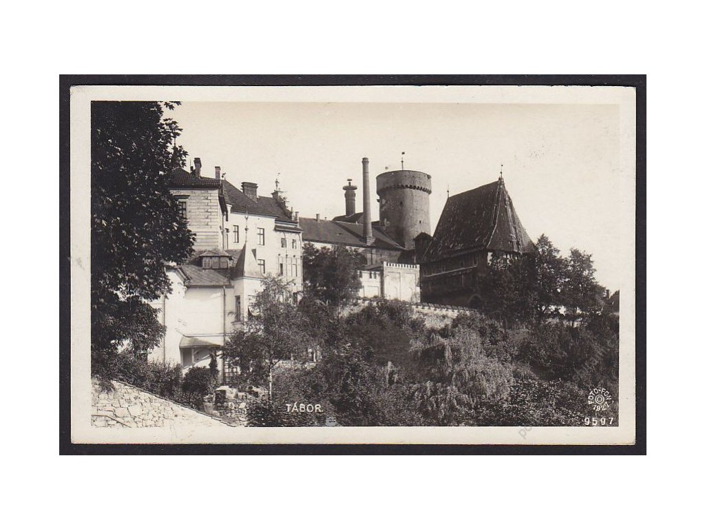 64 - Tábor, pohled na bývalý hrad Kotnov, foto Fon, cca 1930
