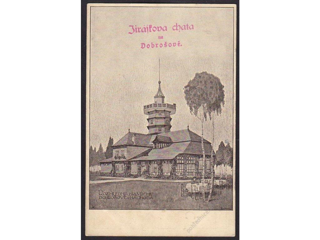 38 - Náchodsko, Dobrošov, Jiráskova chata, cca 1930