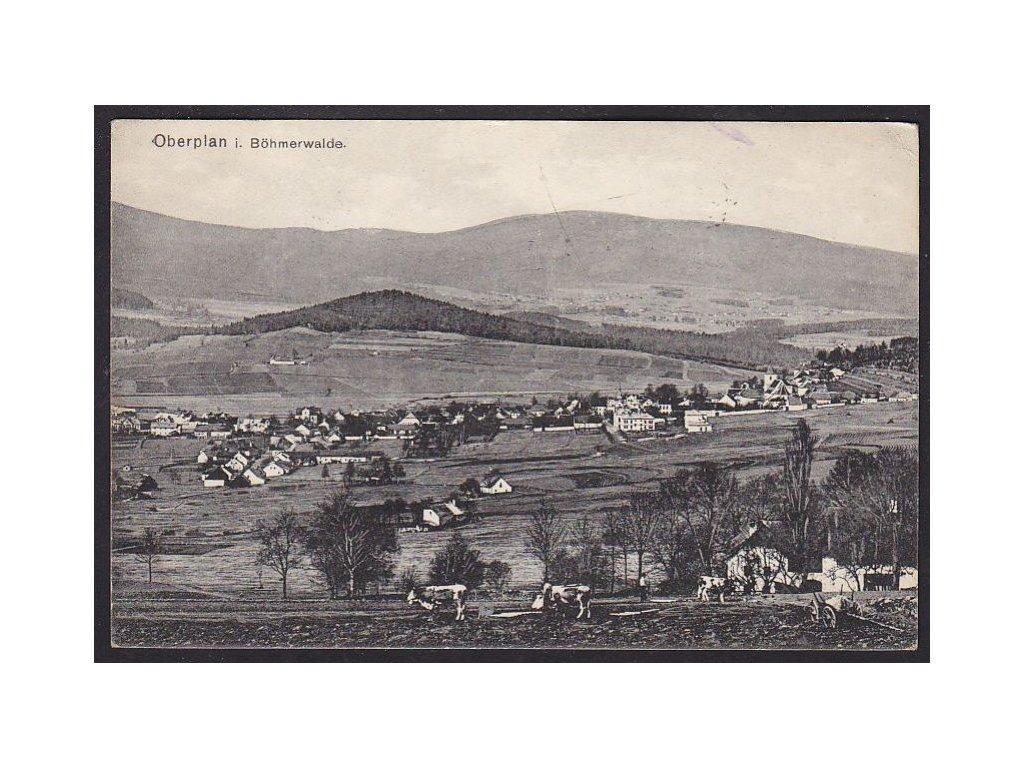 13 - Českokrumlovsko, Horní Planá, foto Seidel č.1041, cca 1918