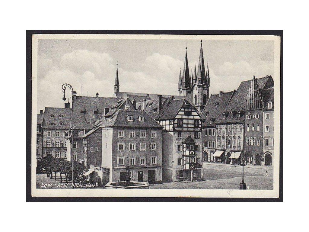 08 - Cheb (Eger), náměstí (Adolf-Hitler-platz), cca 1939