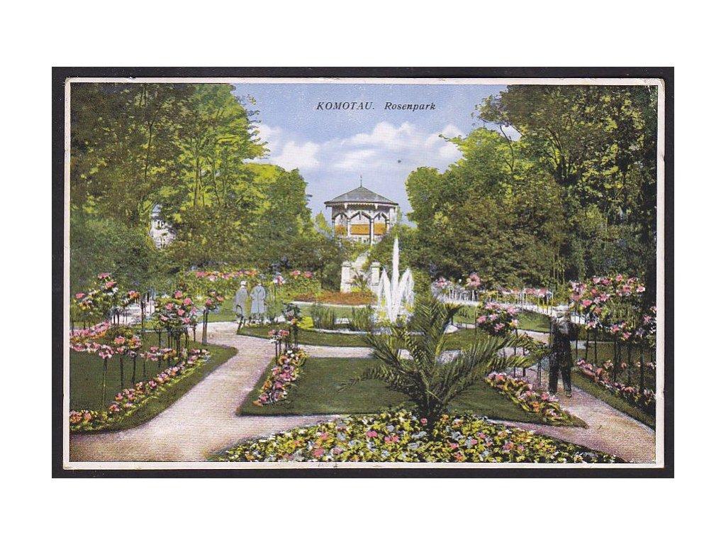 09 - Chomutov (Komotau), park (Rosenpark), cca 1928