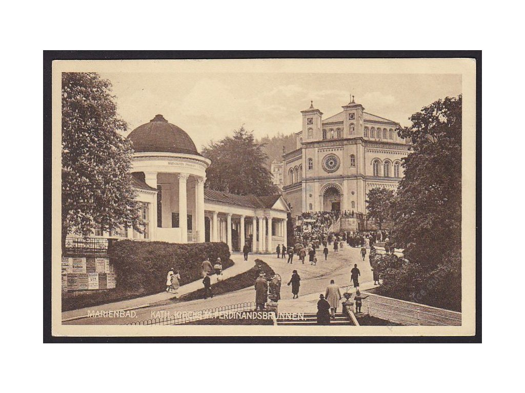 08 - Chebsko, Mariánské lázně (Marienbad), Kostel Nanebevzetí Panny Marie, cca 1937