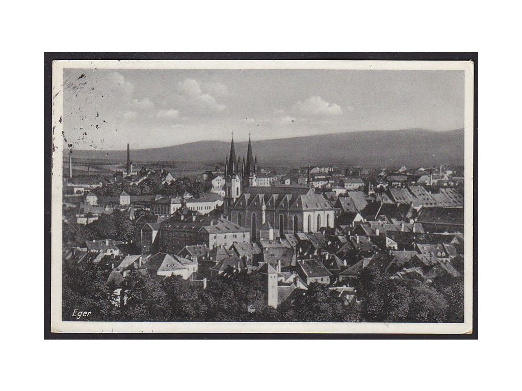 08 - Cheb (Eger), pohled na město, cca 1938
