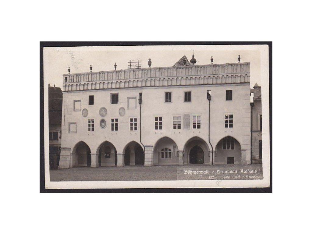 13 - Český Krumlov (Böhmisch Krumau), radnice (Rathaus), foto Wolf č.537, cca 1925
