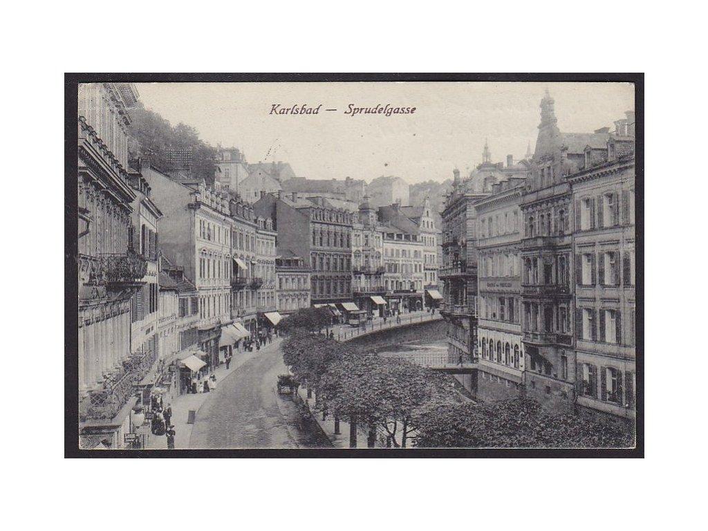 25 - Karlovy Vary, (Karlsbad), vřídla (Sprudelgasse), cca 1920