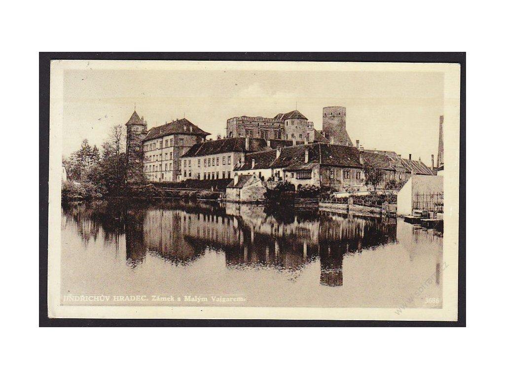 24 - Jindřichův Hradec, zámek s malým Vajgarem, cca 1938