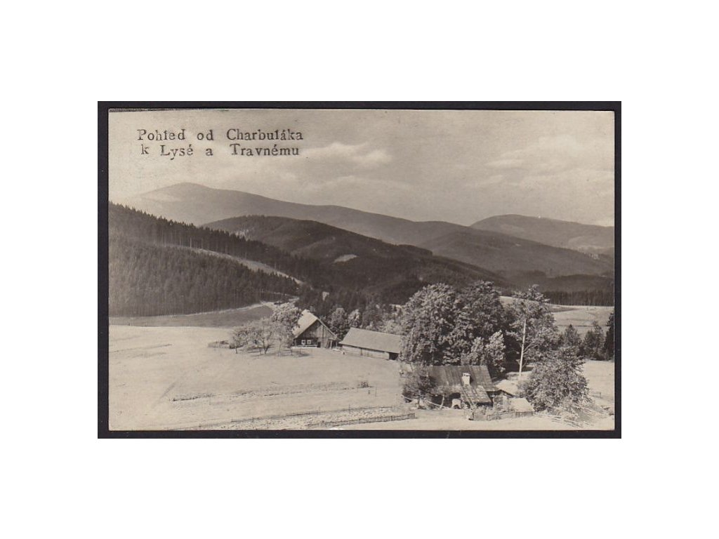 16 - Frýdeckomístecko, pohled od Charbuláka k Lysé a Travnému, cca 1927