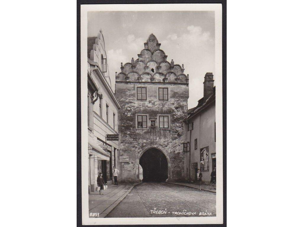 24 - Jindřichohradecko, Třeboň, Troníčkova brána, Bromografia, cca 1932