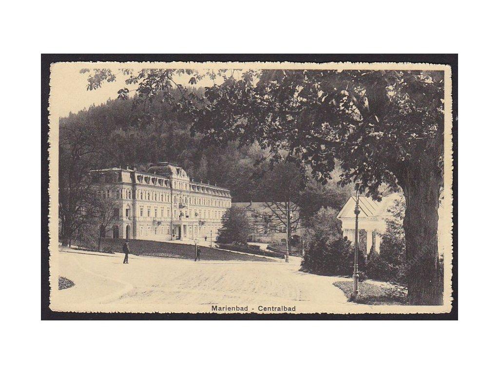 08 - Chebsko, Mariánské lázně (Marienbad), hlavní lázne (Centralbad), cca 1918