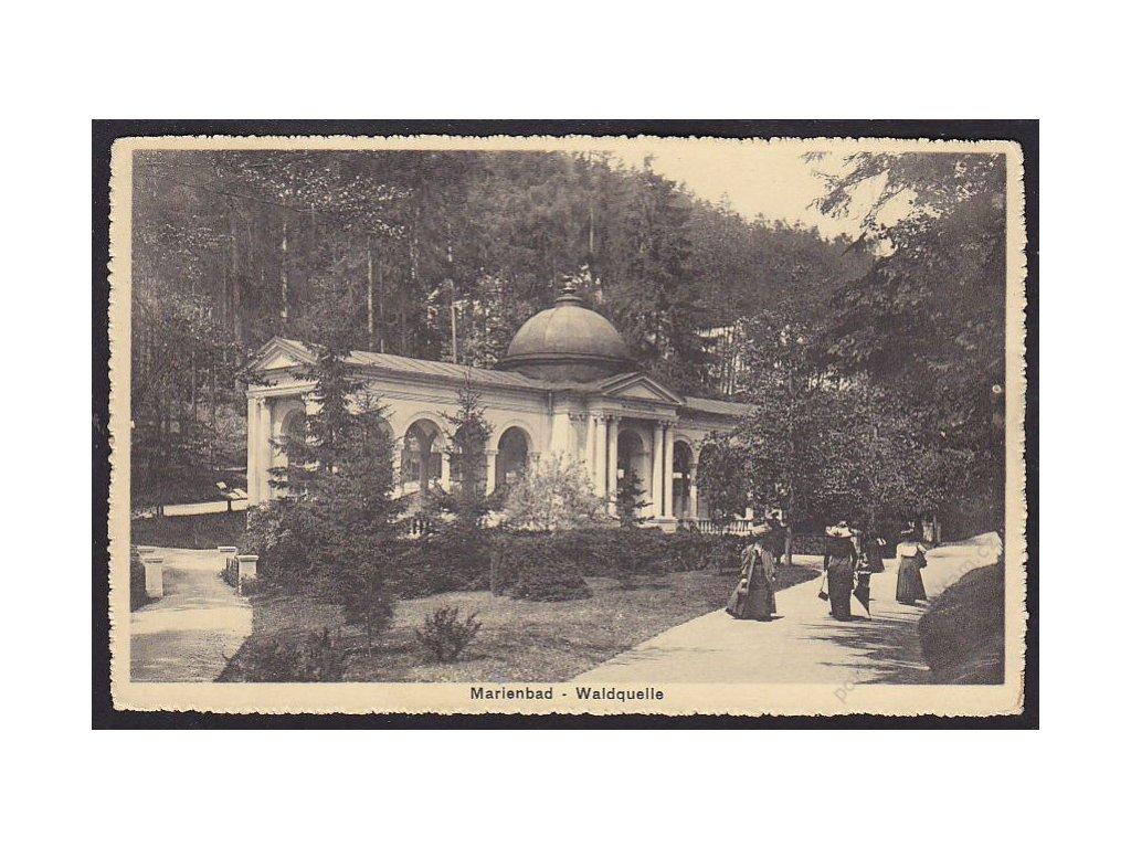08 - Chebsko, Mariánské lázně (Marienbad), lesní pramen (Waldquelle), cca 1918