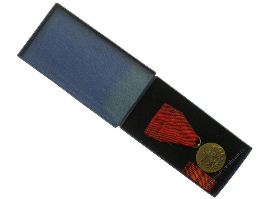ČSSR, AE medaile Za službu vlasti,cca 1975,stuha, stužka, originální, krabička,  stav 1/1