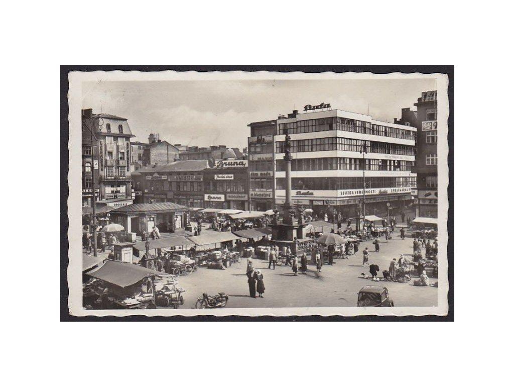 43 - Ostrava, Mor. Ostrava (Mähr. Ostrau), náměstí (ringplatz), cca 1935