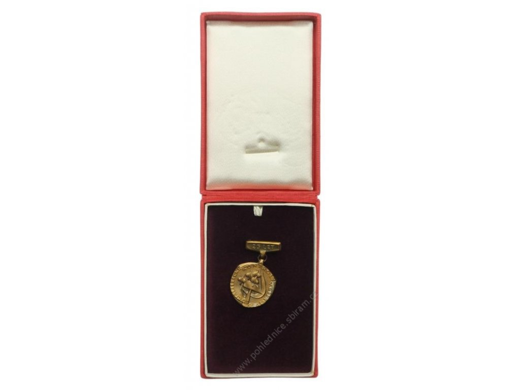 ČSSR, AE medaile 25.let socialistické kontroly, 1951/1976, krabička